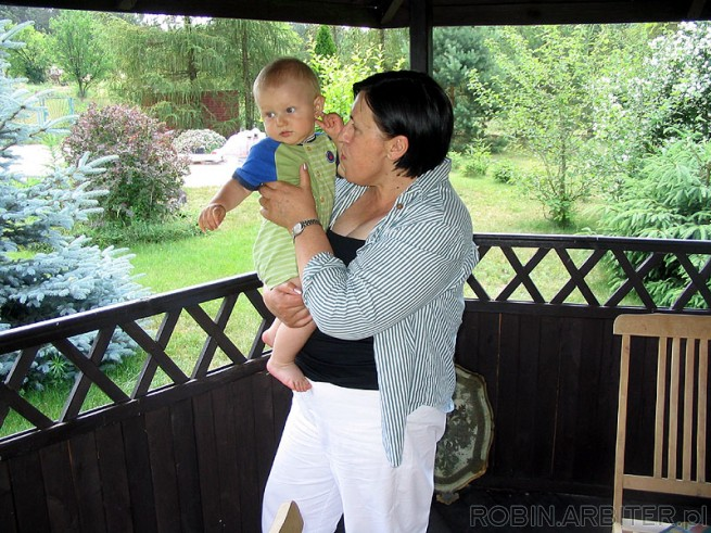 Z babcia w altance.<br /><br />