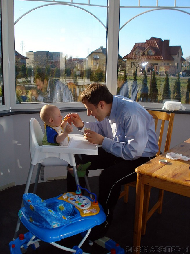 Sniadanie z tata, kwiecien 2007<br />
